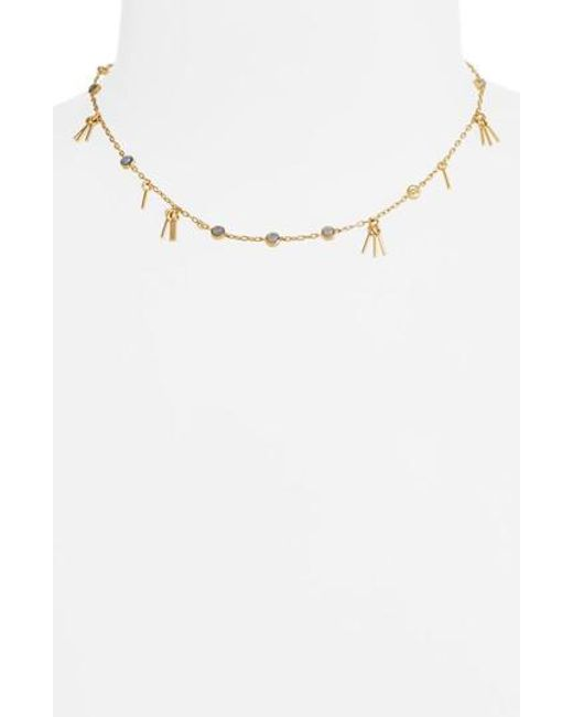 Madewell   Multicolor Circle Fringe Necklace   Lyst