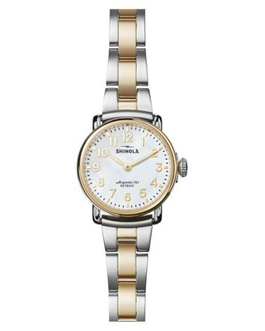 Shinola | Metallic Runwell Bracelet Watch | Lyst
