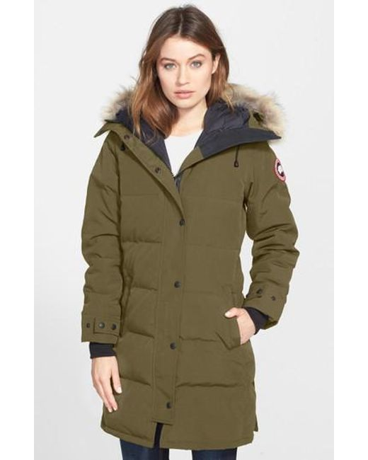 Canada Goose | Green Shelburne Genuine Coyote Fur Trim Down Parka | Lyst