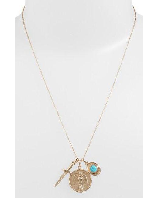 Melinda Maria | Metallic Goddess Of Strength Cluster Pendant Necklace | Lyst