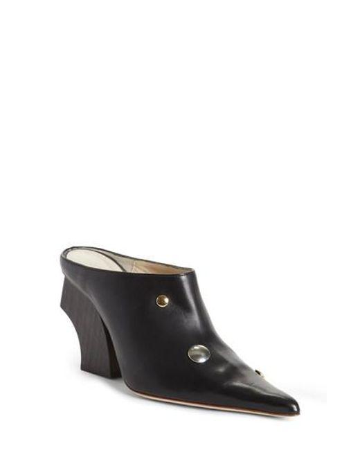 Rejina Pyo | Black Yamin Curved Heel Mule | Lyst