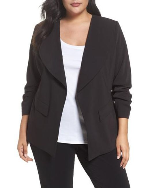 Sejour - Black Drape Neck Jacket - Lyst