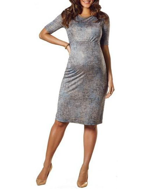 TIFFANY ROSE - Gray Anna Maternity Shift Dress - Lyst