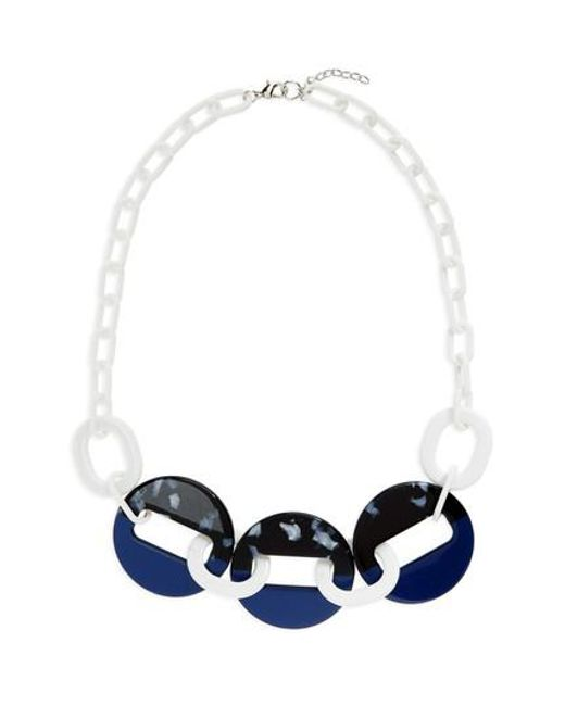 Natasha Couture - Blue Resin Link Necklace - Lyst