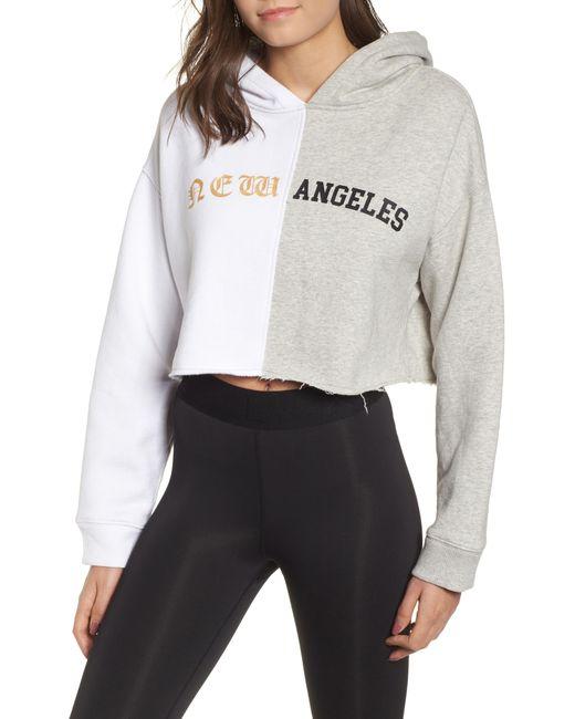 Kendall + Kylie - Multicolor Split Hoodie Sweatshirt - Lyst