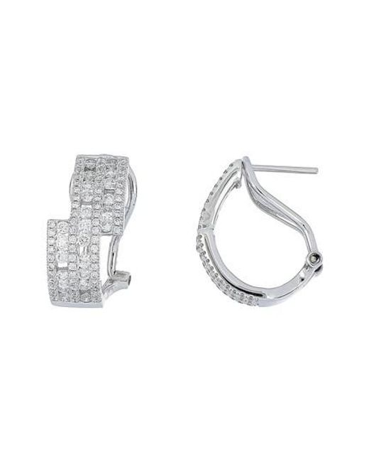 Bony Levy Metallic Amara Luxe Diamond Hoop Earrings Nordstrom Exclusive Lyst