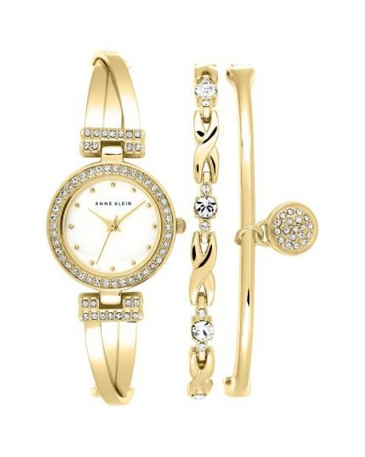 Anne Klein | Metallic Watch & Bangles Set | Lyst