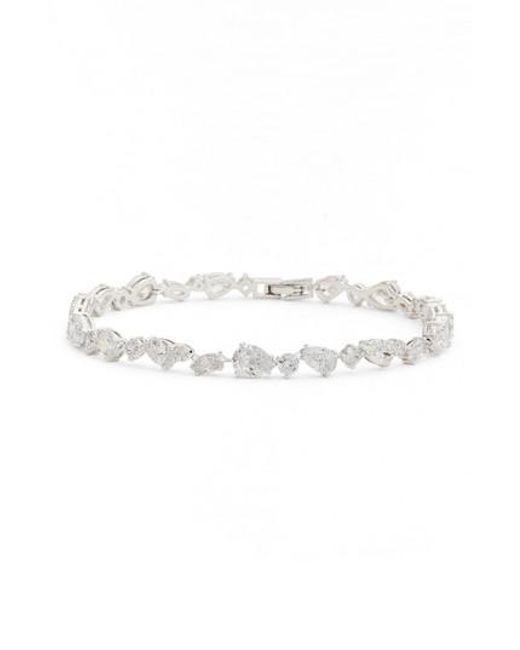 Nadri   Metallic Ava Line Bracelet   Lyst