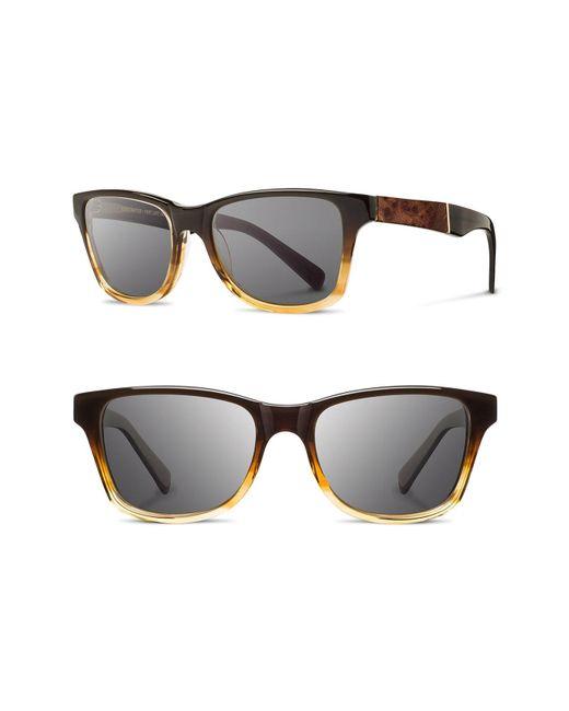 Shwood - Black 'canby' 54mm Acetate & Wood Sunglasses - Sweet Tea/ Elm Burl/ Dark Grey for Men - Lyst