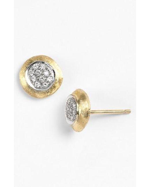 Marco Bicego | Yellow 'delicate' Diamond Stud Earrings | Lyst