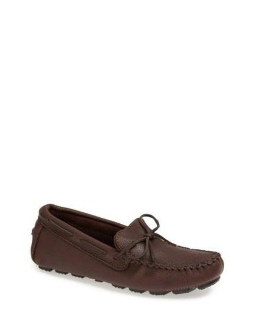 Minnetonka | Brown Moosehide Driving Shoe for Men | Lyst
