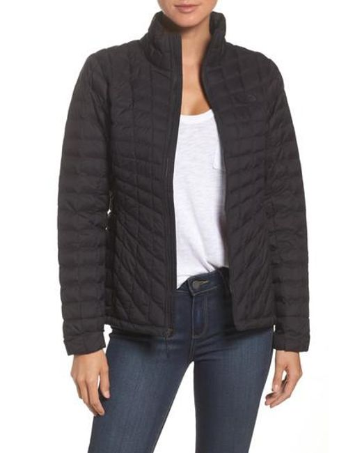 The North Face - Black Thermoball(tm) Full Zip Jacket - Lyst