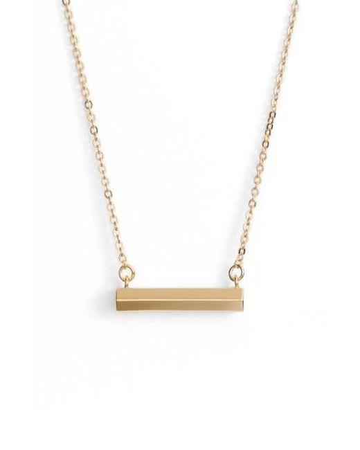 Stella Valle | Metallic Hexagon Shaped Bar Pendant Necklace | Lyst