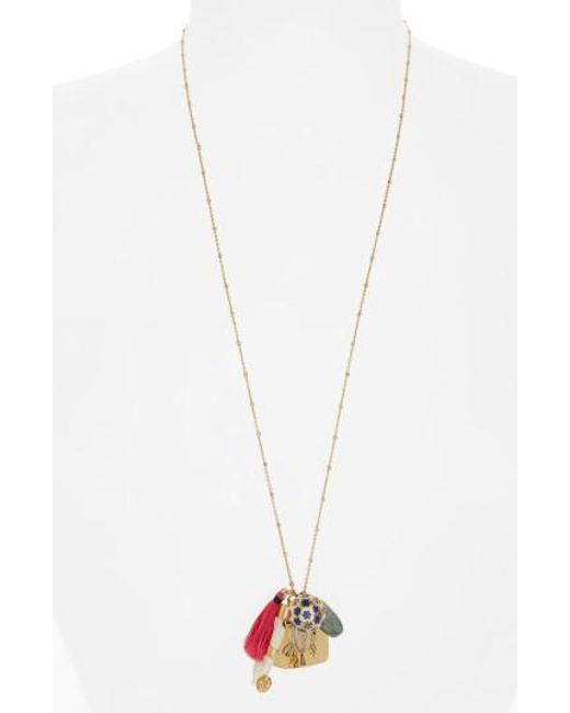 Tory Burch | Metallic Cluster Pendant Necklace | Lyst