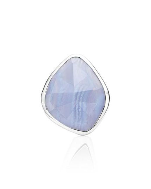 Monica Vinader | Blue Siren Nugget Semiprecious Stone Cocktail Ring | Lyst