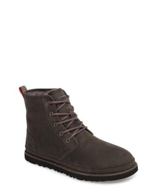 Ugg - Brown Ugg Harkley Plain Toe Boot for Men - Lyst