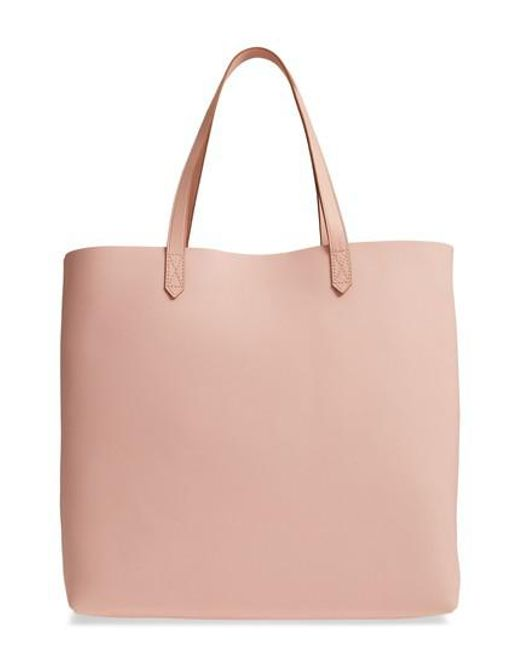 Madewell - Pink 'transport' Leather Tote - Lyst
