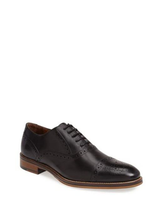 Johnston & Murphy | Black Conard Cap Toe Oxford for Men | Lyst