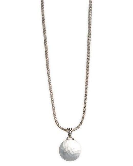 John Hardy | Metallic 'palu' Round Pendant Necklace | Lyst