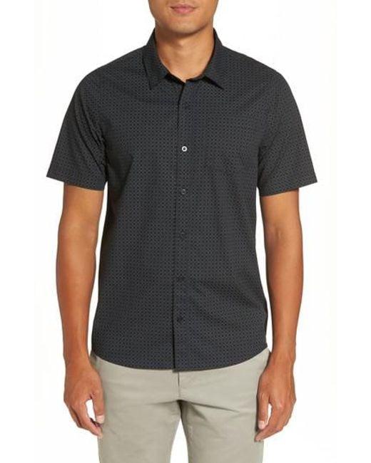 Travis Mathew   Black Terry Print Sport Shirt for Men   Lyst