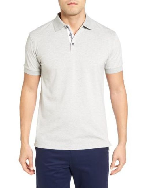 Bobby Jones | Gray Solid Pique Golf Polo for Men | Lyst