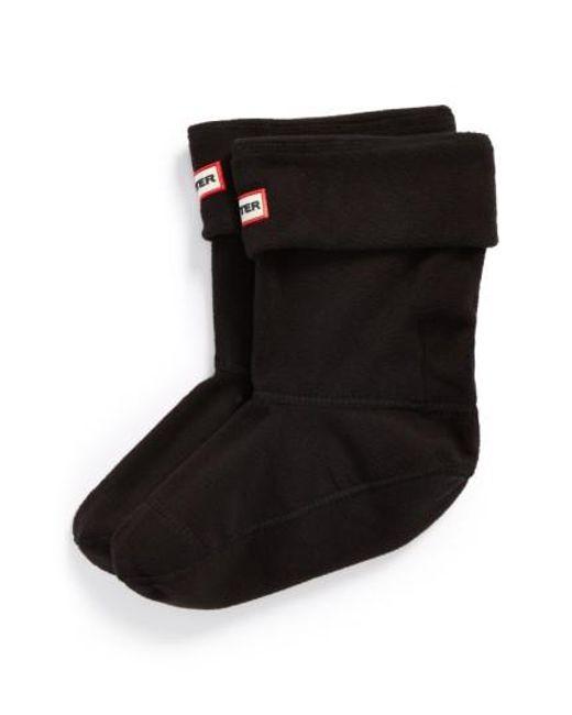 Hunter | Black Short Fleece Welly Boot Socks | Lyst