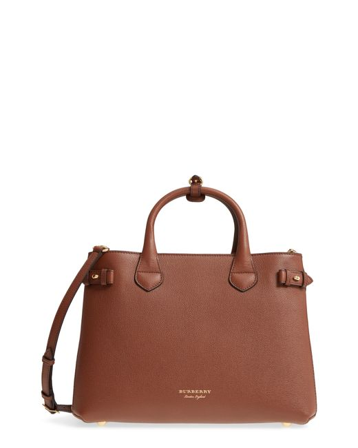 Burberry - Multicolor Medium Banner House Check Leather Tote - Lyst