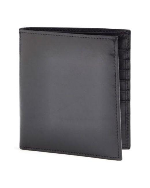 Bosca   Black 'old Leather' Credit Wallet for Men   Lyst