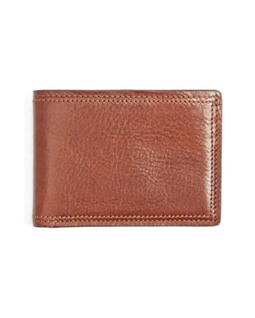 Bosca | Brown Leather Bifold Wallet for Men | Lyst