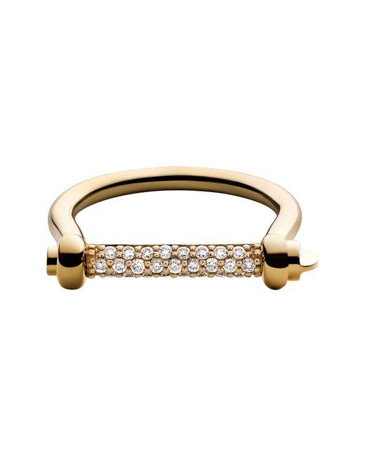 Miansai - Metallic White Sapphire Thin Screw Cuff Ring - Lyst