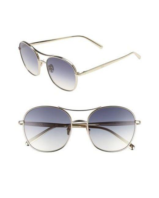 1a7bf923b18 Lyst - Chloé 54mm Aviator Sunglasses in Metallic