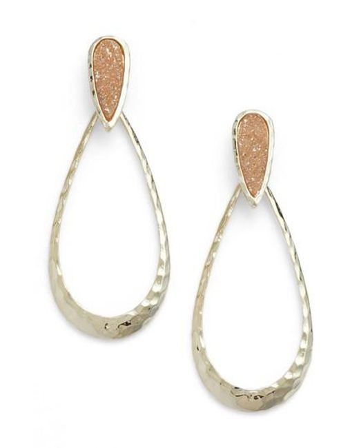 Melinda Maria - Metallic Cassan Drusy Earrings - Lyst