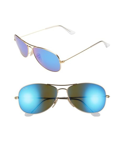Ray-Ban | Metallic 'new Classic' 59mm Aviator Sunglasses | Lyst