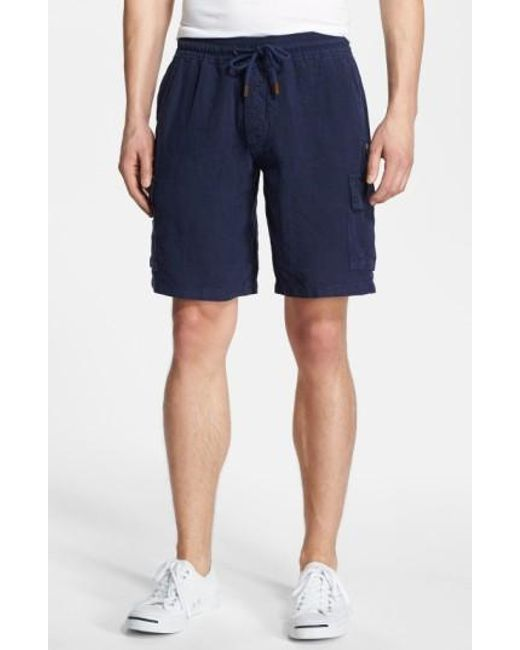 Vilebrequin | Blue Linen Bermuda Cargo Shorts for Men | Lyst