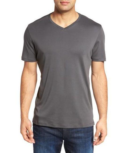 Robert Barakett | Gray Georgia Regular Fit V-neck T-shirt for Men | Lyst