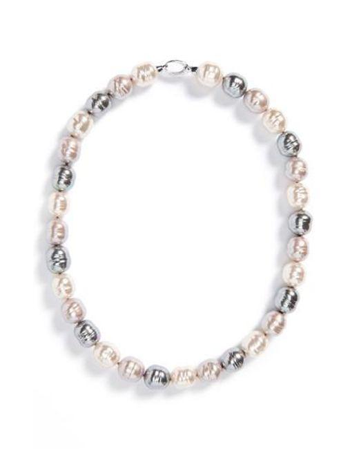 Majorica - Multicolor 14mm Baroque Pearl Necklace - Lyst