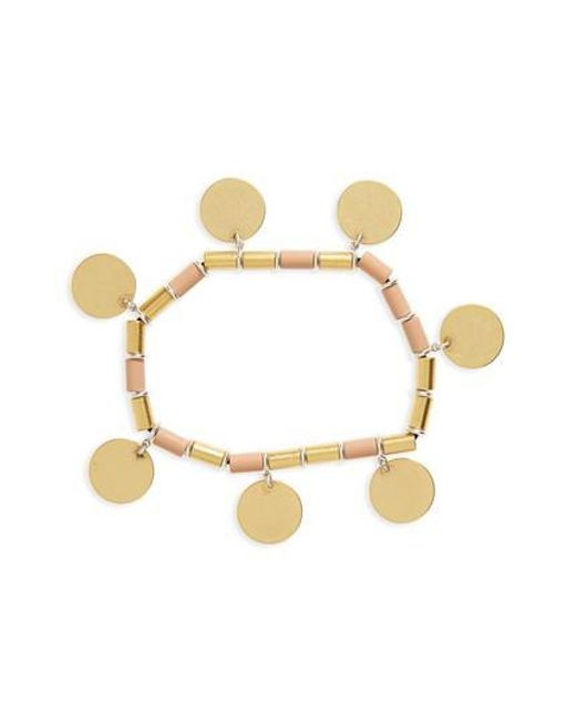Madewell | Metallic Disc Stretch Bracelet | Lyst