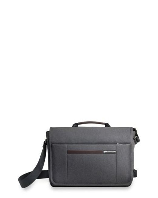 Briggs & Riley - Gray 'kinzie Street - Micro' Messenger Bag for Men - Lyst