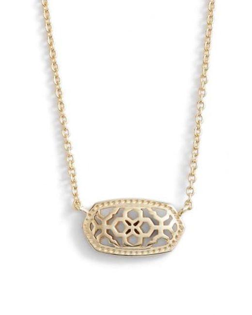Kendra Scott   Metallic Elisa Openwork Pendant Necklace   Lyst