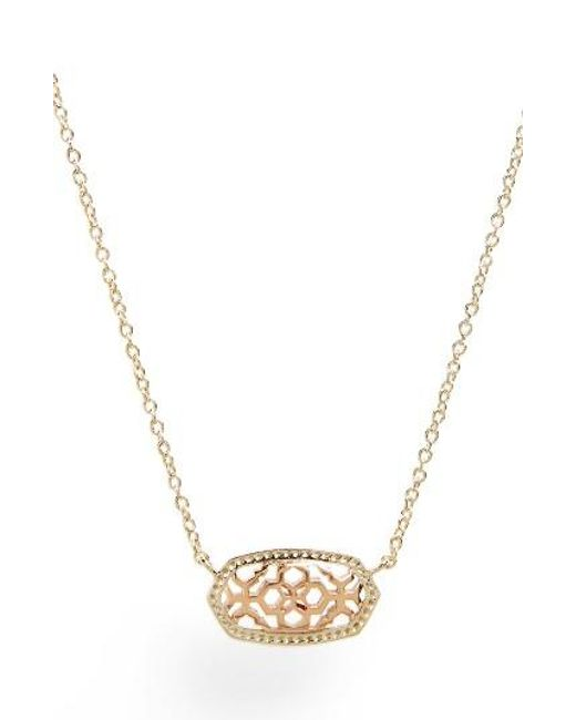 Kendra Scott | Metallic Elisa Openwork Pendant Necklace | Lyst