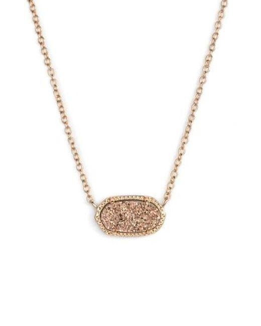 Kendra Scott | Pink Elisa Pendant Necklace | Lyst