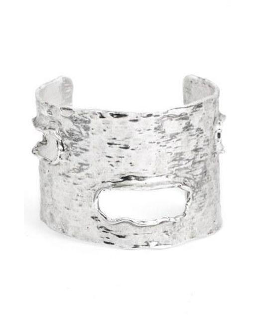 Karine Sultan - Metallic Textured Cuff - Lyst