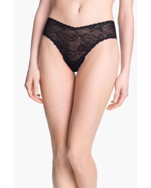 Cosabella - Black 'trenta' Low Rise Lace Thong - Lyst