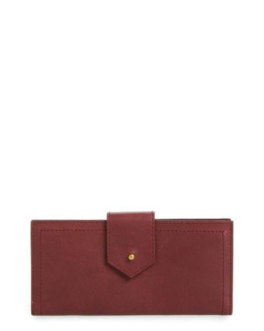 Madewell | Red The Post Kansas Leather Wallet - Burgundy | Lyst