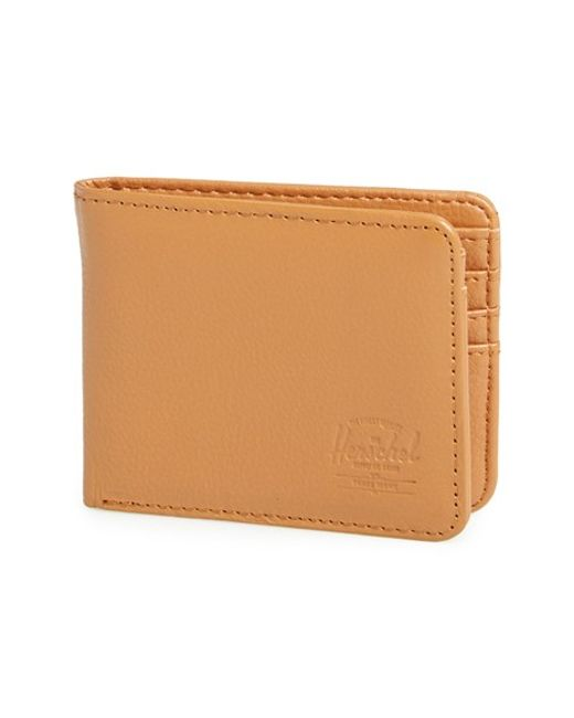 Herschel Supply Co. | Brown 'hank' Leather Bifold Wallet for Men | Lyst