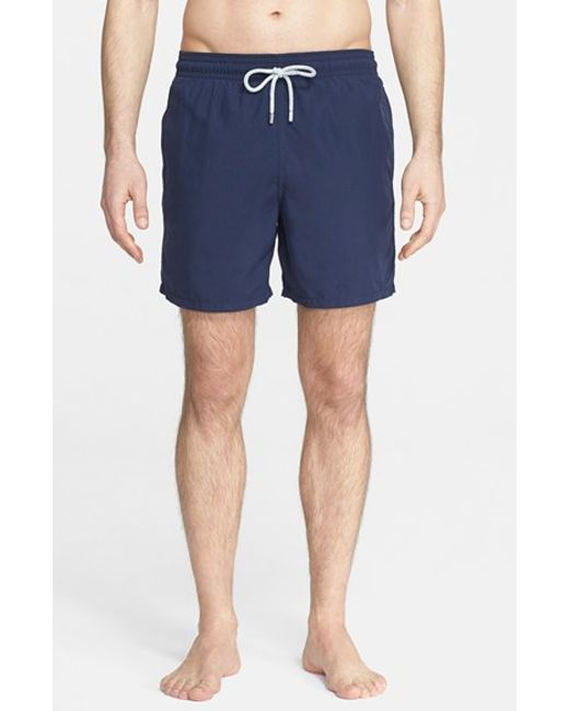 Vilebrequin | Blue 'moorea' Solid Swim Trunks for Men | Lyst