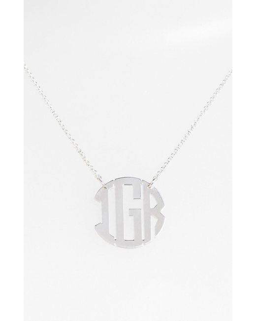 Argento Vivo - Metallic Personalized 3-initial Block Monogram Necklace - Lyst