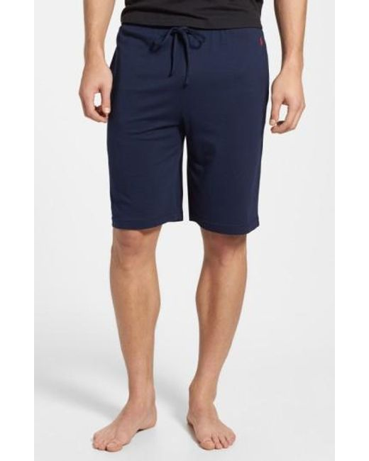 Polo Ralph Lauren | Blue Sleep Shorts for Men | Lyst