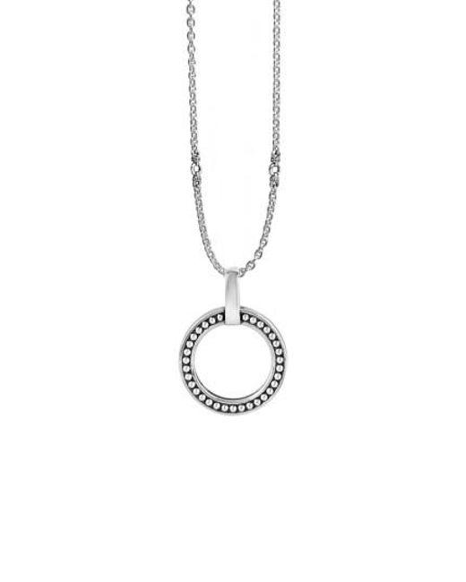Lagos | Metallic 'enso' Caviar Pendant Necklace | Lyst