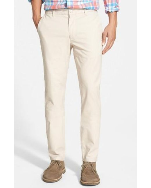 Bonobos | Natural Tailored Fit Washed Chinos for Men | Lyst